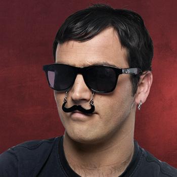 Fun Brille Schnurrbart