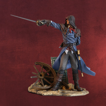 Assassins Creed - Arno Statue mit digitalem Inhalt