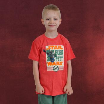 LEGO Star Wars - Boba Fett T-Shirt für Kinder rot