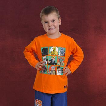 LEGO Star Wars - Characters Longsleeve für Kinder mit Leuchteffekt orange