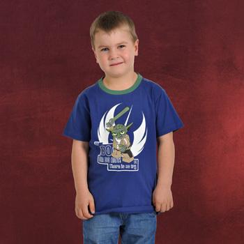 LEGO Star Wars - Do Or Do Not! Yoda T-Shirt für Kinder mit Leuchteffekt blau
