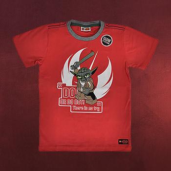 LEGO Star Wars - Do Or Do Not! Yoda T-Shirt für Kinder mit Leuchteffekt rot