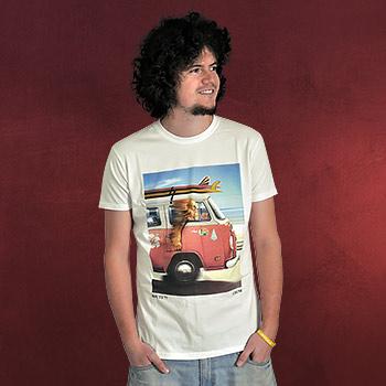 Star Wars - Wookie On Route 77 T-Shirt cremeweiß