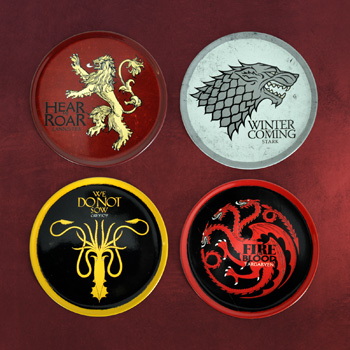Game of Thrones - Wappen Untersetzer 4er Set