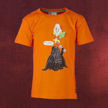 LEGO Star Wars - Yoda vs. Darth Vader T-Shirt für Kinder orange