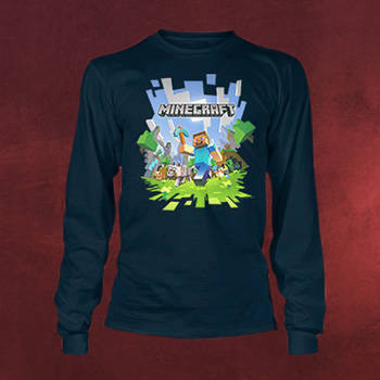 Minecraft - Adventure Longsleeve für Kinder