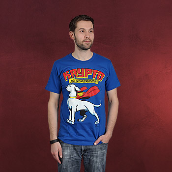 Superdog - Krypto T-Shirt blau