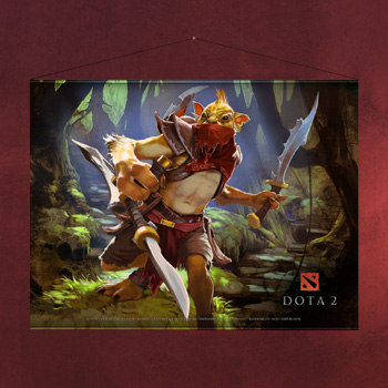DotA 2 - Bounty Hunter Wallscroll