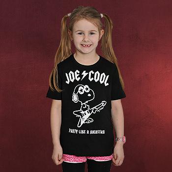 Peanuts - Joe Cool Rockstar Kinder T-Shirt schwarz