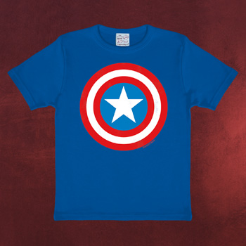 Captain America - Shield Kinder T-Shirt blau