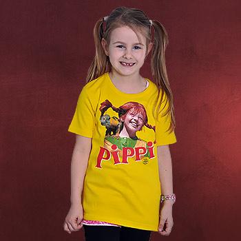 Pippi Langstrumpf - Pippi und Herr Nilsson Kinder T-Shirt gelb