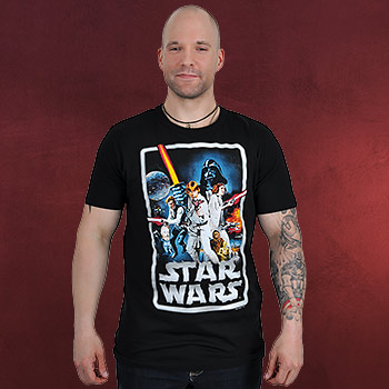 Star Wars - Poster T-Shirt schwarz