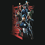 Avengers - Age of Ultron - Collage T-Shirt schwarz