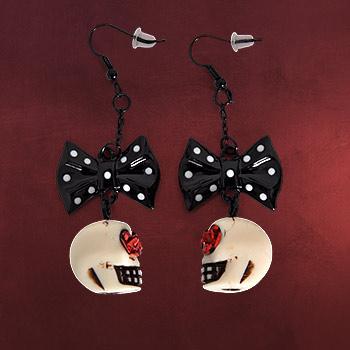 Rockabilly - Skull Ohrringe schwarz