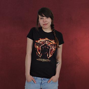 Tribute von Panem - Mockingjay Katniss Girlie Shirt schwarz