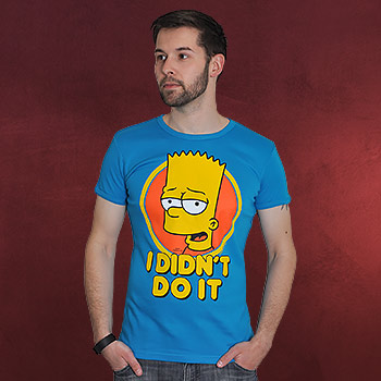 Simpsons - I didn�t do it! Bart Simpson T-Shirt t�rkis