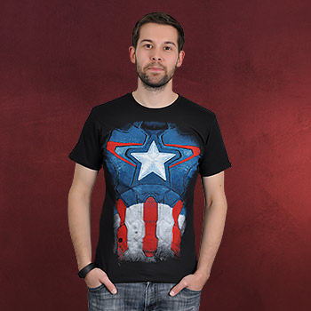 Captain America - Suit T-Shirt schwarz
