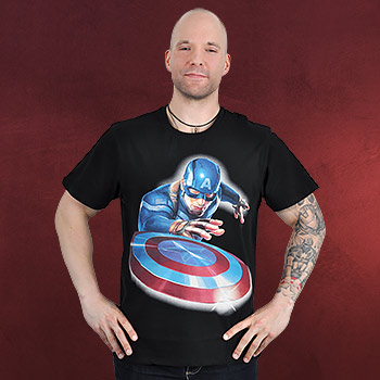 Captain America - Launched the Shield T-Shirt schwarz