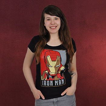 Iron Man - Poster Girlie Shirt schwarz