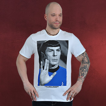 Star Trek - Mr. Spock Poster T-Shirt wei�