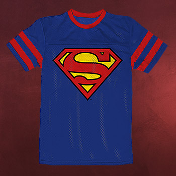 Superman - Logo Sport-Style T-Shirt blau