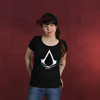 Assassins Creed - Logo Girlie Shirt schwarz