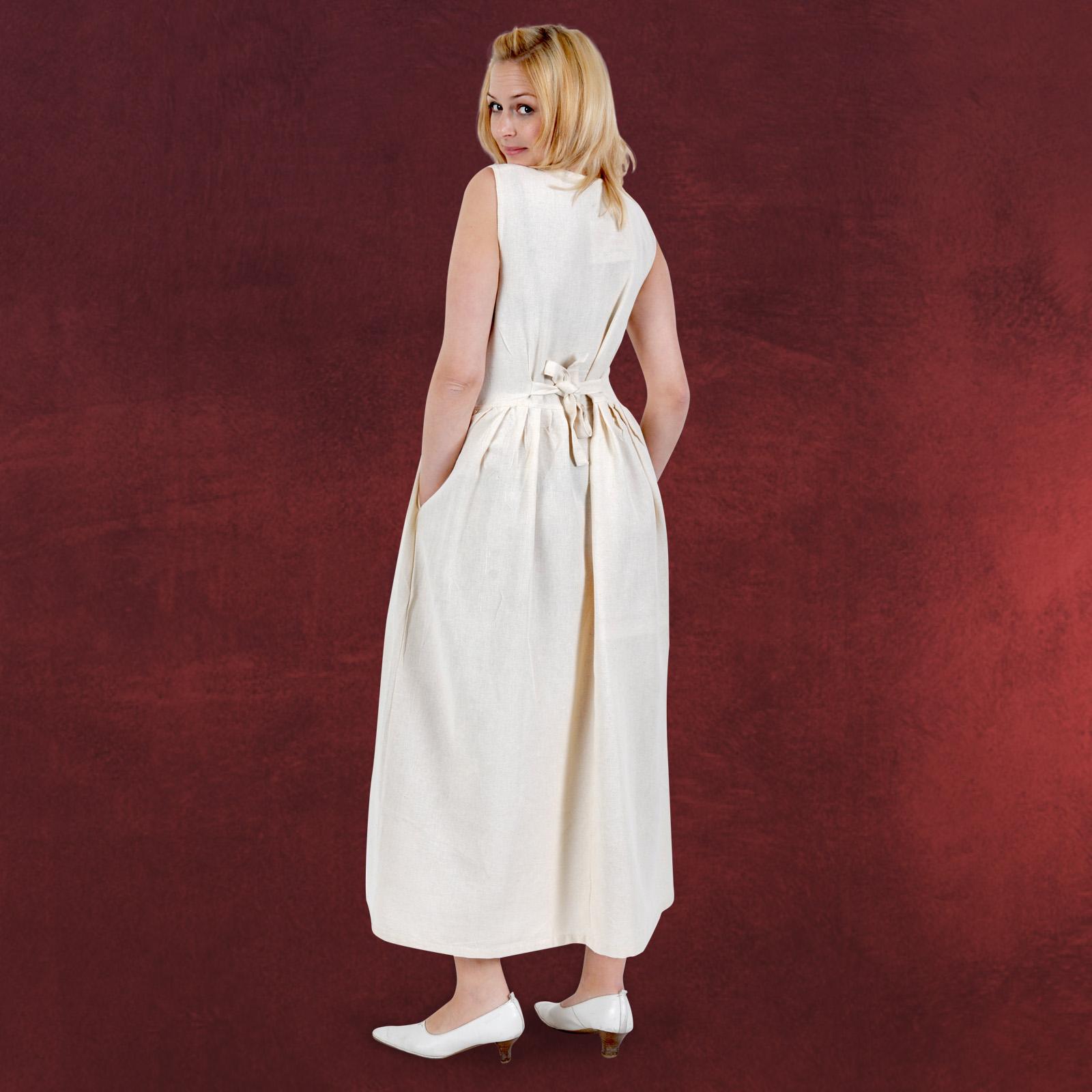 Mittelalter Kleid Theresia - Damen Trägerkleid natur ...