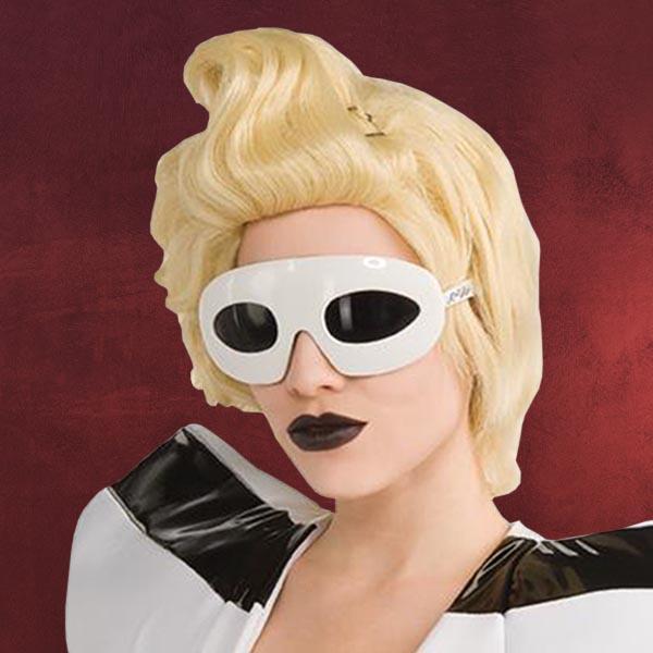 lady gaga brille wei sonnenbrille kost m zubeh r motto party ebay. Black Bedroom Furniture Sets. Home Design Ideas